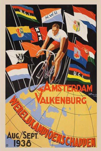 1938 World Cycling Championships Poster